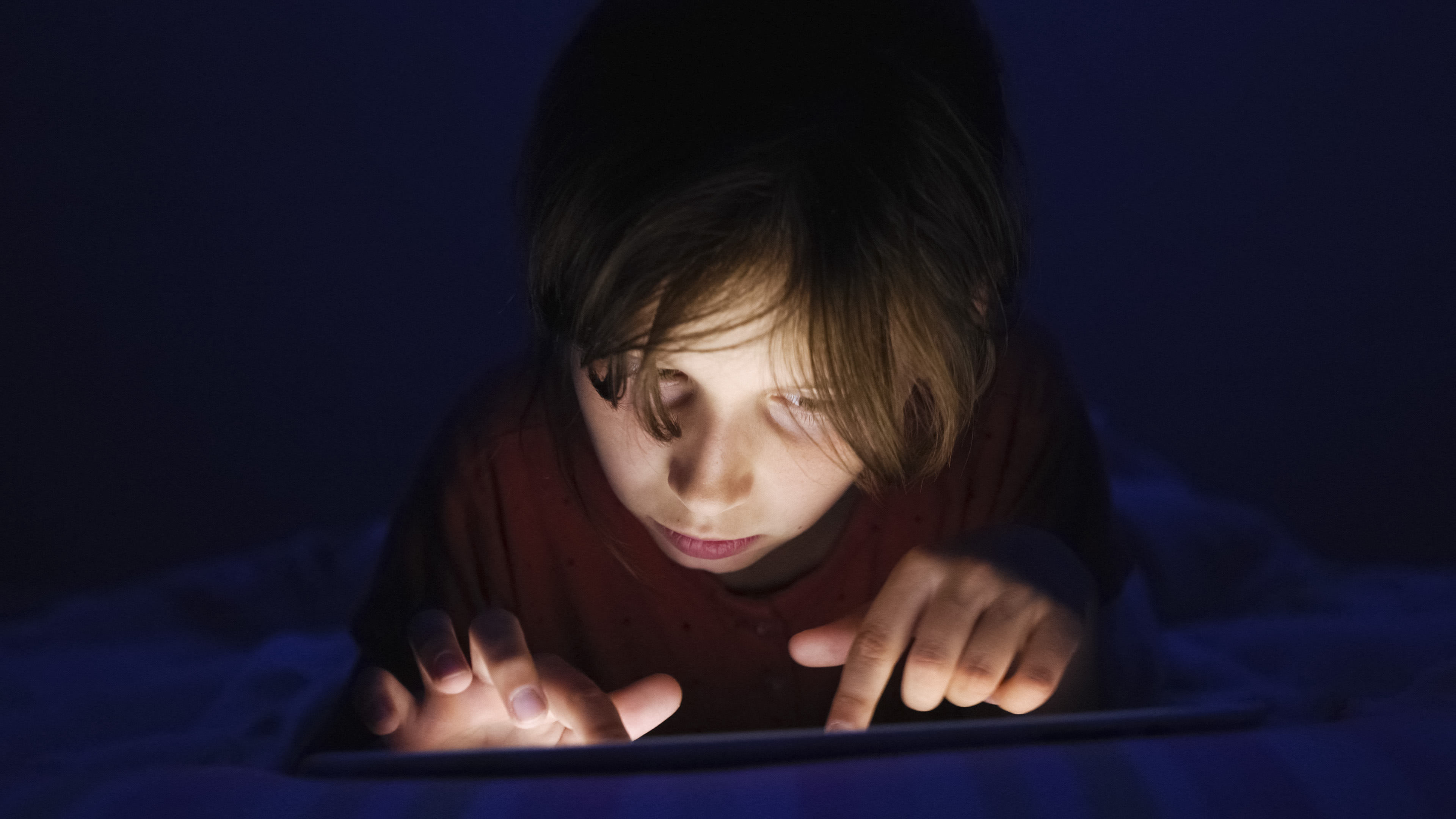 Young child watching porn late at night